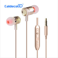 Wholesale Noise Cancelling Headphones For Telephone - Stereo Metal Earphones Sound quality Earbud For iPhone Ear wire In-ear Headphones Bass Telephone headset For Android Samsung KDK-203