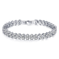 Wholesale Crystal Rome - Fatory sale high quality Rhinestone Rome Bracelet for Woman Girl Jewelry wedding Female Accessories Austrian Crystal alloy chain