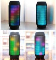мини-импульсный светодиодный динамик оптовых-Бесплатная доставка открытый спикер потокового LED Pulse Портативный Bluetooth Super Bass беспроводной мини-колонки LED освещение Mic TF AUX USB Disck