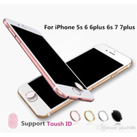 Wholesale Home Button Protector - Touch ID button protector Sticker iphone 7 Home keypad keycap for IPhone 5s 6 6s 6plus 7plus Support Fingerprint Unlock Touch key ID
