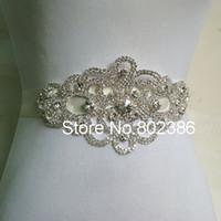 Wholesale Bridal Wedding Belts - Wholesale- Free Shipping Rhinestone Bridal Sash Wedding Belt Rhinestone Bridal Dress Belt