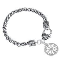 Wholesale Rhinestone Seals - Best Gift For Men Wiccan Jewelry Pentacle Sun Talisman Key of Solomon Seal Pendant Bracelet