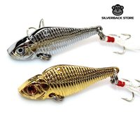 Wholesale Spinner Baits Fishing China - Metal VIB Mepps Fishing Lure 2pcs lot Wobbler Peche Spoon Bait Fishing Tackle China Winter Artificial Hard Fake Fish Metal Lures