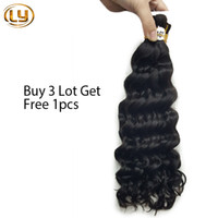 Wholesale Factory Hair Bulks - Wholesale Human mini Braiding Hair In Factory Price Brazilian Deep Curly Wave Bulk Hair For Braiding Human Braiding Hair 3pcs Lot No Weft