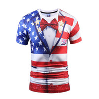 Wholesale Cheap Banners - Hotsale 2017 new arrival t-shirts 3d print the Star-Spangled Banner style tee wholesale cheap sweatshirts hip hop sex cheap price tshirts