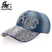 Wholesale Texas Caps - Wholesale- 2016 New High quality Wholesale Retail JoyMay Hat Cap Fashion Leisure TEXAS Rhinestones Vintage Cotton CAPS Baseball Cap B111