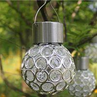 ingrosso palle hanging tree all'aperto-Moda Solar Powered Hanging Lights Forma di palla Outdoor Solar Lamp impermeabile Led Prato Albero luce Garden Yard Decor