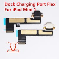 Wholesale Ipad Mini Dock Flex - For iPad mini 1 Dock Connector Charging Port Connector Flex Cable Black and White Colour DHL Free Shipping