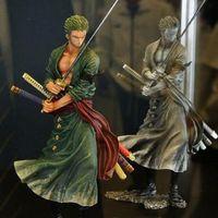 um anime partes venda por atacado-Anime Figurine Action Figure Uma Peça Roronoa Zoro PVC Boneca Modelo Toy 20 cm