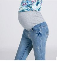 Wholesale pants for pregnant women - Maternity Jeans Maternity Pants for Pregnant Women Skinny Pregnancy Pants Denim Pregnant Clothing for Summer Plus Size XXL