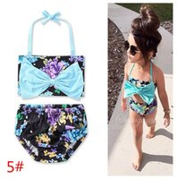 Wholesale Hot Children Bikini - 11 style Baby Girl Swimwear 2 Piece Swimsuits Beach Wear children summer beach wear kids bathing suit INS Hot sell with factory cheap price
