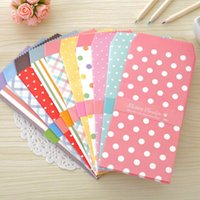 Atacado - 10X Bonitos Doce Dots Striped Fresh Paper Envelope Creative DIY Tool Greeting Cover Gift