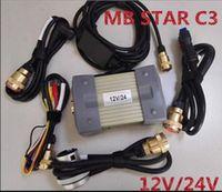 probadores de estrellas mb al por mayor-Probador del multiplexor de Super MB Star C3 Star sd conecta el diagnóstico compacto de 3 C3 con los cables fuertes sin hdd rápido Freeshipping