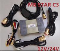 ingrosso tester stella mb-Super MB Star C3 Multiplexer tester Star sd connect compatto 3 C3 Diagnosi con cavi resistenti senza hdd veloce Freeshipping