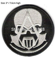 """Wholesale Assassin Creed Costume Wholesale - 3"""" ASSASSINS CREED GHOST RECON TV MOVIE Series EMBROIDERED Uniform rockabilly applique badge costume iron on patch"""