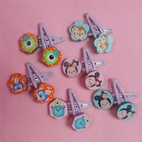 Wholesale Hairpins Pick - Hot!24 pair New Cartoon Tsum Kids Baby Girls Hairpin Cartoon Hair Accessories High Quality 6 Styles Can pick Mix Children Gifts