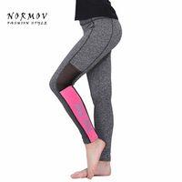 rosa lycra-leggings großhandel-Großhandels-S-XL Frauen Leggings Fashion Pink Brief Drucken Workout Leggings Frauen Sportswear Hohe Taille Winter Grau Leggings Frauen