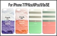 Compra Giorni Freschi-Nuove 7 tipi di coreana Giorno di stile fresco iPhone Amore Happy Color Blocking-Frosted copertura per 7 iphone 7 Plus iPhone 6S iphone 6s 5s più iPhone