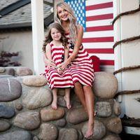 ingrosso vestiti 4 luglio-4 luglio La madre e la figlia si veste di gril della banda dei puntini vestito dalla maglia della nappa mun