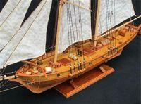 kits de madera modelo al por mayor-Envío gratis modelo a escala de madera de la nave modelo de ensamblaje de los kits modelo de barco de vela de madera clásica HARVEY1847 escala