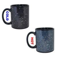 кружки горячего напитка оптовых-Звездное небо магия изменение цвета кружка Созвездие горячий кофе изменение чашки тепла реактивные кружки для домашнего офиса новое прибытие 8yr R