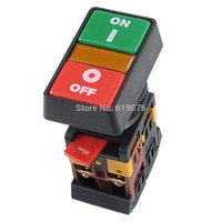 Wholesale Off Momentary - Wholesale- 10PCS ON OFF START STOP Push Button w Light Indicator Momentary Switch Red Green Power APBB-30N
