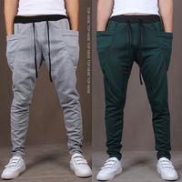 cores jogging calças venda por atacado-New Mens Corredores Moda Harem Pants Calças Hip Hop Slim Fit Sweatpants Homens para Jogging Dance 8 Cores calças esporte M ~ XXL