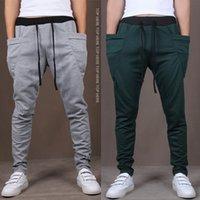 pantalones deportivos harem hombres al por mayor-Nuevos Hombres Joggers Moda Harem Pants Pantalones Hip Hop Slim Fit Pantalones de chándal Hombres para Jogging Dance 8 Colores pantalones deportivos M ~ XXL