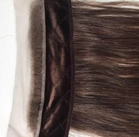 Wholesale real european lace wigs - Real Human Hair Headbands Brown Color 4 Best Hair Accessory Freestyle Invisible Iband Lace Grip For Jewish Wigs Kosher Wigs