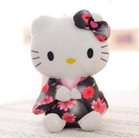 Wholesale New Toys For Girls - Hello Kitty Kimono KT 20cm Creative Hello Kitty Cartoon Toy Mini Stuffed HK Anime Toy for Girls Birthday Party