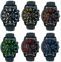 Wholesale aviator quartz sports for sale - Group buy Mix Colors Men Causal SPORT Military Pilot Aviator Army Racing Silicone GT Watch RW014