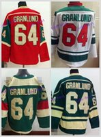 Wholesale Cheap Wild Hockey Jerseys - 2016 Stadium Series #64 Mikael Granlund Jersey Minnesota Wild Jerseys Green Red White Cheap Ice Mikael Granlund Hockey Jersey
