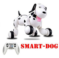 Wholesale Electronic Toy Robots - Birthday Gift RC walking dog 2.4G Wireless Remote Control Smart Dog Electronic Pet Educational Children's Toy Robot Dog