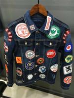 Wholesale United States Jacket - 2017 Europe and the United States new brand men denim jacket coat PP # 117