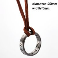 Wholesale Game Ends - PS4 game Uncharted 4 A Thief's End Nathan Drake Pendant Cord Chain Necklace Accessories Collector's Edition Man's Jewelry
