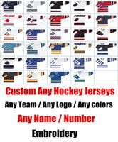 Wholesale Wine Color Embroidery - Special Custom High Quality ICE Hockey Jerseys Any logo Name Number Color Size Sewn On XXS-6XL Embroidery China Free Shipping
