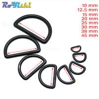 Wholesale d rings wholesale - 100pcs lot Plastic D-Ring Buckles Webbing Size 10mm 12mm 15mm 20mm 25mm 30mm 38mm 45mm Black