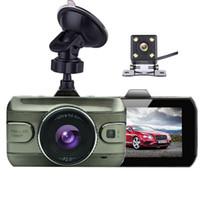 Wholesale Dual Loop - Original Dual Lens Car DVR Camera Full HD 1080P 170 Degree Registrator Recorder Backup Rearview Camera Loop Recording Dash Camera
