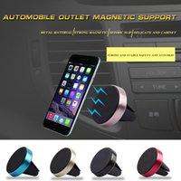 Wholesale Note Car Holder Vent - Universal Car Magnetic Air Vent Mount Mobile Smart Phone Holder Handfree Dashboard Phone Metal Stand For iPhone 8 8plus Samsung note 8