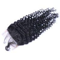 Wholesale Virgin Bulk Kinky - High Quality Can Be Dyed Kinky Curly Human Virgin Hair Bundles Extensions Natural Color Brazilian Indian Peruvian Malaysian 4*4 Closure