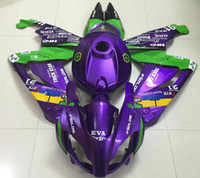 Wholesale Tank Covers For Motorcycles - New ABS Injection Mold motorcycle Fairings Kits+Tank cover For For Aprilia RS125 RS 125 2007 2008 2009 2010 2011 07 08 09 10 11 purple green