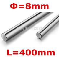 Wholesale linear guide rails - Wholesale- 2pcs 3D printer parts rod 8mm linear shaft L 400mm chromed linear motion guide rail round rod Shaft for cnc parts