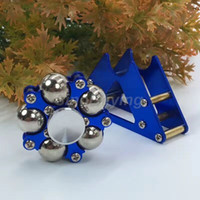 Wholesale Ferris Wheel Holder - DIY New Fidget Toy Assemble Ferris Wheel Hand Tri Spinners Metal Finger Spinner for Kid Adult Anti-anxiety Stress Five Beads with holder