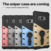 Wholesale Tpu Hard Case For Blackberry - Case For Samsung S8 Plus A5 A3 J7 J5 2017 iPhone 7 6s Plus 360 Degree Rotation Kickstand Shockproof Drop Resistance Hard Cover