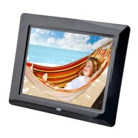 Wholesale Picture Frame Photo Album - Wholesale-Electronic Picture Frame 8 Inch TFT-LCD Digital Picture Photo Frame MultiMedia MP3 Music Movie Players 800*600 Resolution Album