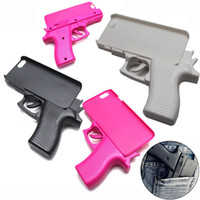 Wholesale Wholesale Gun Cases - Soft Silicone Case for iPhone 7 7plus 6 6s plus 5 5c New 3D Gun Shape Hard Rubber Cover Phone Cases