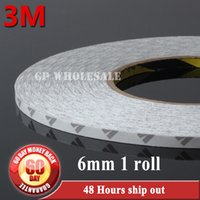 Wholesale Dvd Cases Double - Wholesale- 2016 6mm(W)*50 Meters Hi-Temp 3M 9080 Double Sided Adhesive Tape For LED Strip LCD Case iPad PC Phone DVD Repair Free Shipping