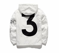 Wholesale White Jacket Long Man - KANYE Jacket Men KANYE Hip Hop Windbreaker TOUR 3 Jackets Men Women Streetwear Fashion Outerwear uniform coat black White YEEZUS Y3 Jacket