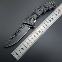 chain knife outdoor art work - Stonewash Steel EDC CHAIN Straight Assisted Folding Knife Tactical Folding Blade Knives Outdoor Art work Handle