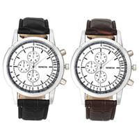Wholesale Cheap Branded Watches Geneva - Xiniu 2017 Geneva Men watch Luxury Brand Watches Quartz Clock Fashion Leather belts Watch Cheap Sports wristwatch